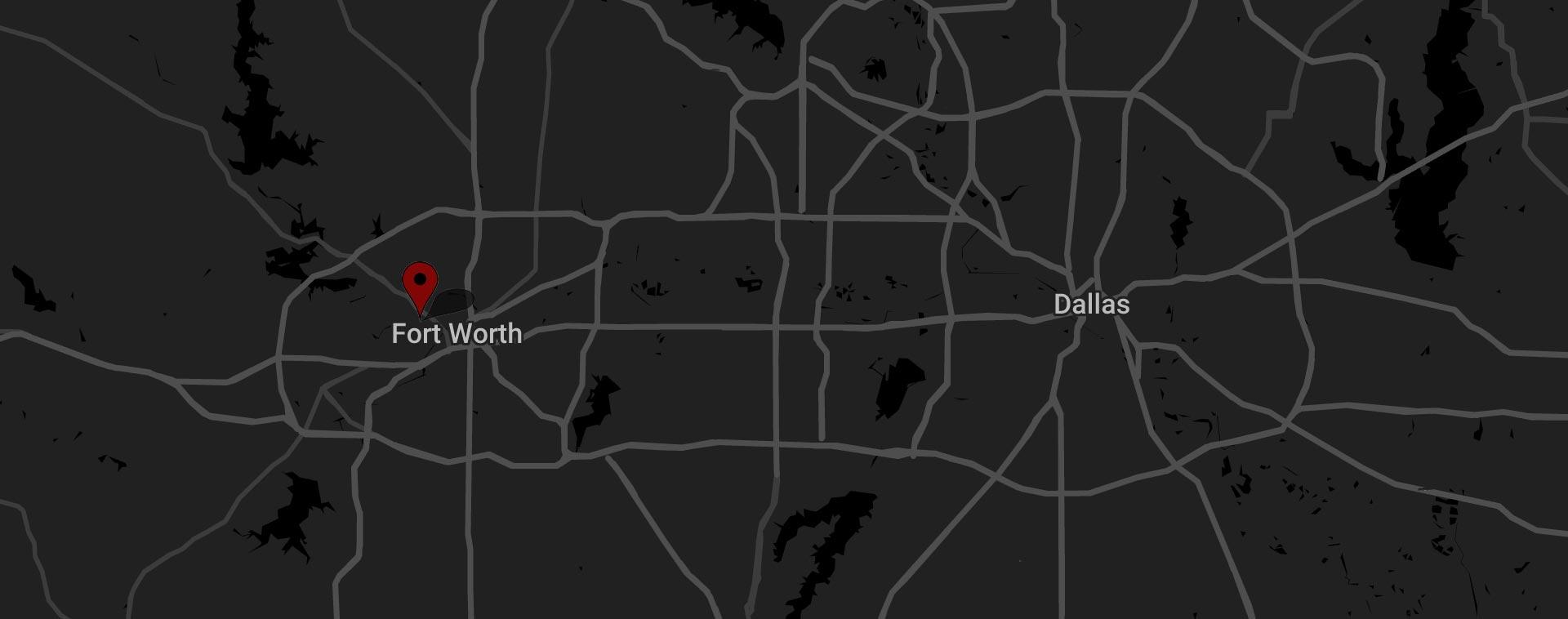 Dallas Fort Worth map