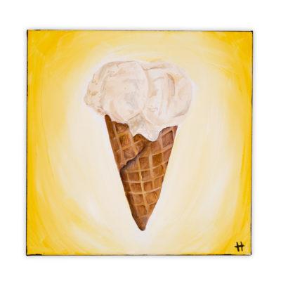 fort worth artist melt ice cream painting fort worth hallie