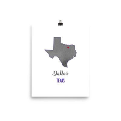 Dallas Texas print artwork