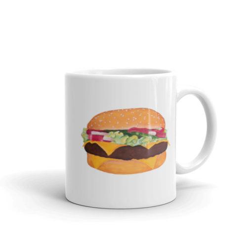 Hallie Cochran cheeseburger mug